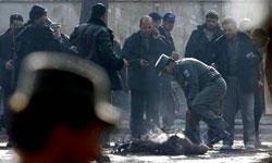 6 نيروي پليس افغانستان در انفجار بمب كشته شدند