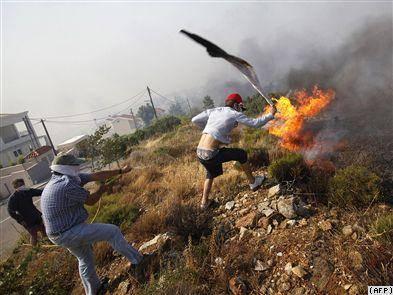 آتش سوزی های گسترده در یونان وارد چهارمین روز خود شد