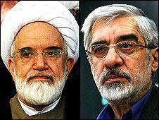 تلاش برای بایکوت رسانه ای موسوی و کروبی در ایران