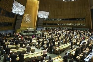 شصت و چهارمین نشست مجمع عمومی سازمان ملل متحد با حضور نمایندگان 192 کشور جهان در مقر این سازمان در نیویورک آغاز بکار کرد . مجمع عمومی سازمان ملل یک ارگان اصلی مشورتی بشمار می رود و اعضای آن نمایندگانی از همه کشورهای عضو سازمان ملل هستند که هرکدام حق رای دارند.