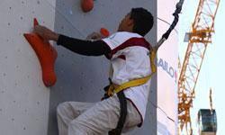 نخستين ديواره سنگنوردي استاندارد شرق كشور نصب شد