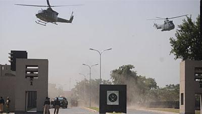 ارتش پاکستان در جستجوی شبه نظامیان مهاجم مرکز فرماندهی