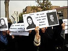 زنان عضو بسیج خواستار استرداد شاهد قتل ندا شدند