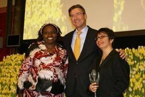 اعطای جایزه حقوق بشر لاله در هلند به شادی صدر شادی امین