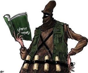 کاریکتاتور: برعکس فهمیدن مفهوم «جهاد»