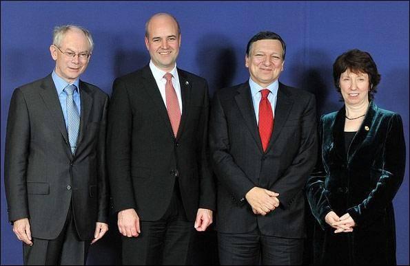عکس خبری/  نخستین رئیس و وزیر خارجه اتحادیه اروپا