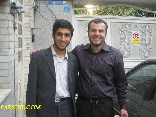 تصویر: رضارحیم مشایی و علیرضا احمدی نژاد