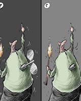 وقتی چماق جواب عکس میدهد/ کاریکاتور