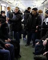 متروسواری کشتی گیران در مسکو/ شاهکار جدیدی از ورزش ایران به روایت تصویر!