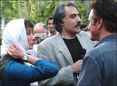 هدیه تهرانی در کنار بازیگر معروف هالیوود / عکس