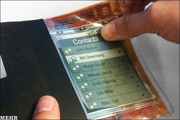تصاویر نمونه آزمایشی اولین تلفن همراه کاغذی/ موبایل به نازکی یک کاغذ!