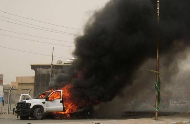 عکس / در سه انفجار امروز شهر کرکوک در شمال  عراق حداقل 27 نفر کشته و بیش از 100 نفر زخمی شدند - 18 +