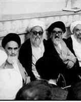 عکس تاریخی از امام خمینی و جمعی از علما