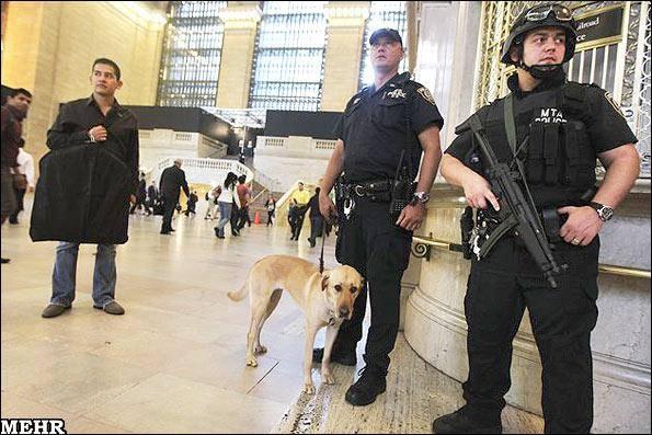 تصاویر برقراری وضعیت فوق العاده امنیتی در نیویورک