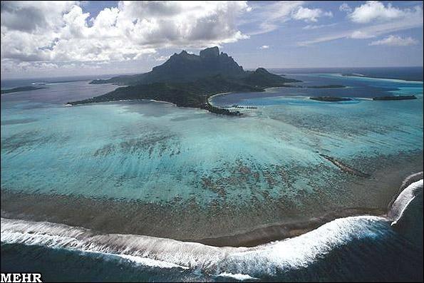 دست هنرمند طبیعت / تصاویر دیدنی جزایری که شبیه تابلوی نقاشی هستند