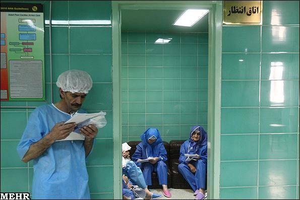گزارش تصویری/400 عمل جراحی چشم در بیمارستان فارابی