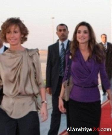 عکس/ پاسخ همسر اسد به زن پادشاه اردن