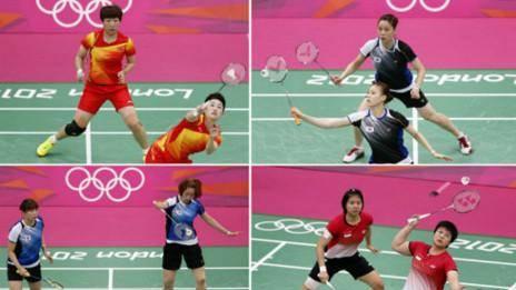 ۸ بدمینتون باز زن به اتهام کمکاری از المپیک لندن حذف شدند