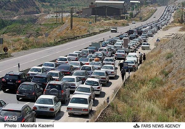 ترافیک سنگین در محور هراز (عکس)