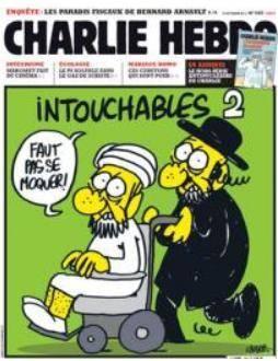 انتشار مجدد کاریکاتور درباره پیامبر مسلمانان در یک نشریه طنز فرانسوی + عکس