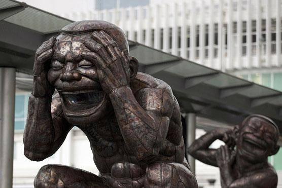 مجسمههای خنده در هنگ کنگ (عکس)