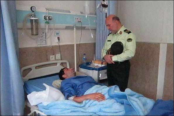 مامور پلیس پاهایش را در عملیات تعقیب و گریز از دست داد