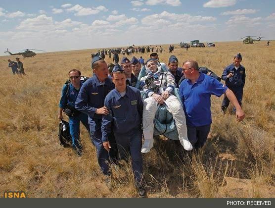 حال فضانوردان پس از فرود به زمین (+عکس)