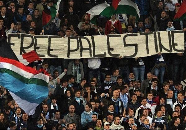 بازداشت حامیان فوتبالی فلسطین/ عکس
