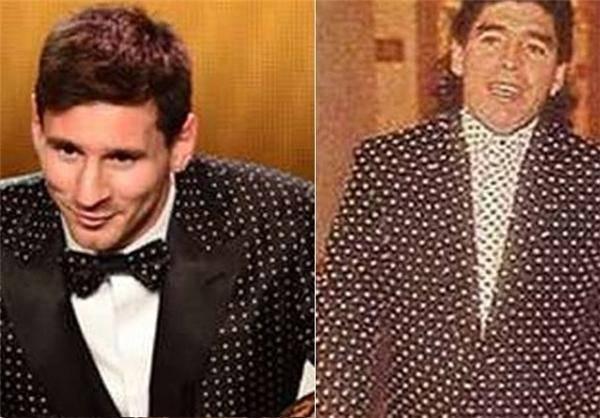 مسی از مارادونا تقلید کرد؟+عکس