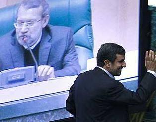 ادامه بگم بگم ها ی احمدی نژاد در جلسه امروز مجلس…. / پخش سخنان فاضل لاریجانی با سعید مرتضوی