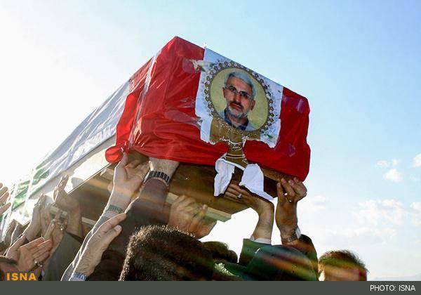 تصاویر/وداع مردم سمنان با شهید شاطری