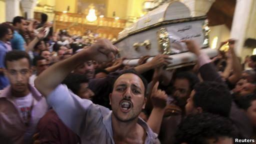 درگیری در مراسم تدفین در مصر یک کشته به جا گذاشت