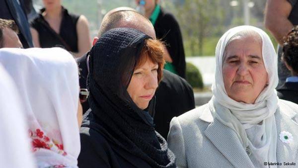 کاترین اشتون با روسری / عکس