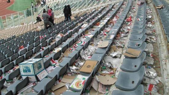 ورزشگاه آزادی پس از ميتينگ پنجشنبه دولت (تصویر)