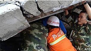 تلفات زلزله چین به بیش از ۱۵۰ نفر رسید