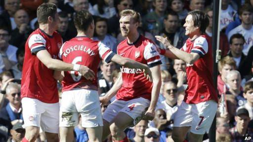 صعود دوباره آرسنال به رده سوم لیگ برتر فوتبال انگلستان