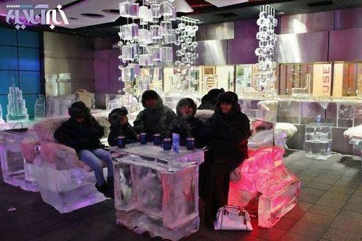 تصاویری از کافی شاپ یخی در دبی