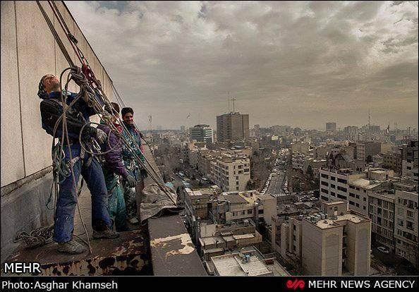 کارگران ارتفاع (گزارش تصویری)