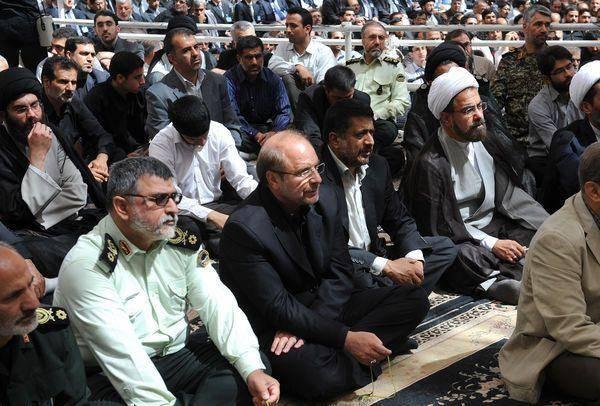 عکس/ قالیباف در مراسم ارتحال امام(ره)