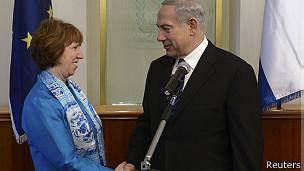 درخواست اسرائیل از کاترین اشتون: اتحادیه اروپا فشار بر ایران را افزایش دهد