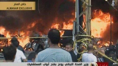انفجار یک بمب در جنوب بیروت