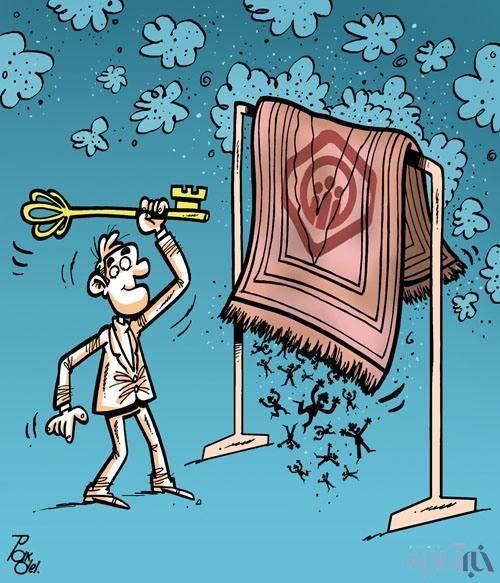 کاریکاتور: تکاندن تامین اجتماعی!