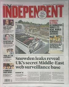 ایندیپندنت: بریتانیا اطلاعات فیبرهای نوری خاورمیانه را شنود میکند