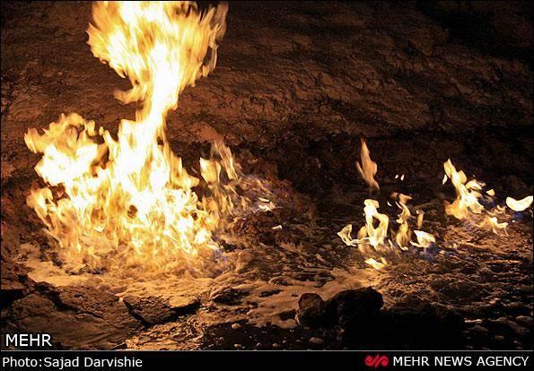 تصاویر/ رودخانه شعله ور در ایران