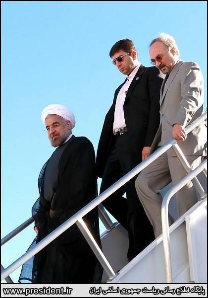 عکس/حسن روحانی وارد نیویورک شد