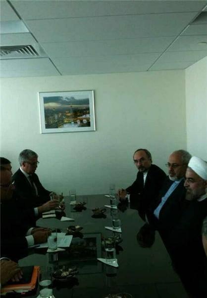 دیدار روسایجمهور ایران و فرانسه / عکس