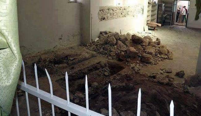 نبش قبر یکی از علمای حلب/عکس