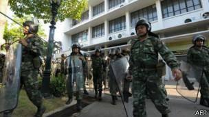 ارتش تایلند در بانکوک مستقر شد
