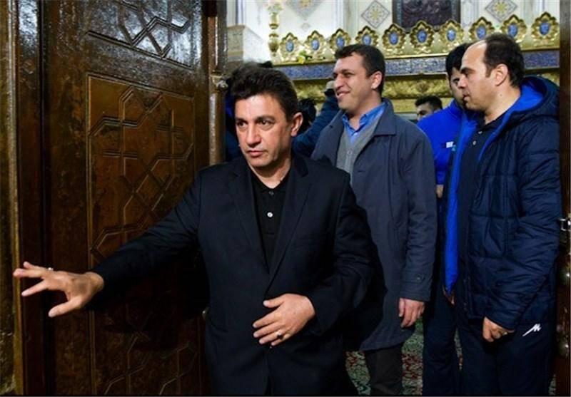 امیر قلعهنویی در امامزاده هارونیه/ تصاویر