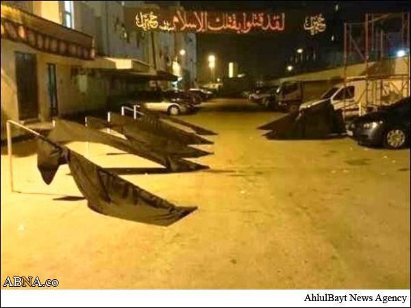 تصاویر/حملات آل خلیفه به نمادهای عاشورا